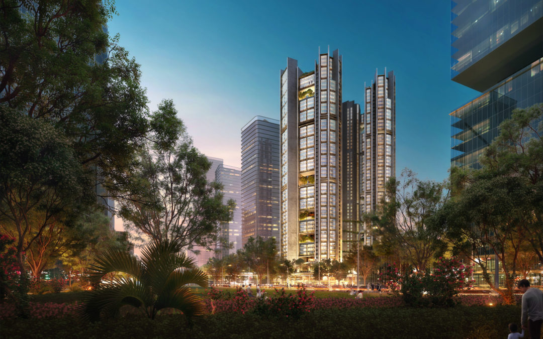 Foster + Partners reveals visuals of co-living apartment block in China